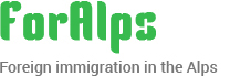 Foreign immigration in the Alps